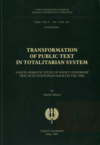 Transformation of public text in totalitarian system